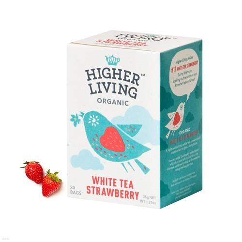 하이어리빙 유기농 화이트티 스트로베리 TEA