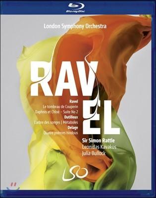 Simon Rattle 라벨: 쿠프랭의 무덤 / 뒤티외: 메타볼 / 들라쥬: 네 개의 힌두 시 - 레오니다스 카바코스런던 심포니, 사이먼 래틀 (Ravel: Le Tombeau de Couperin / Dutilleux: Metaboles / Delage)