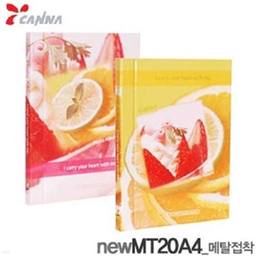 칸나 메탈앨범 NEW MT20A4  (WH)6-5 20매 접착식...