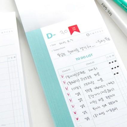 제이로그 D-DAY 투두리스트 메모지(100매)