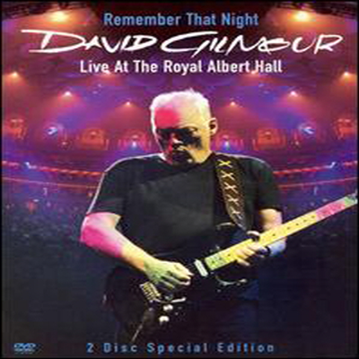 David Gilmour - Remember That Night : Live At The Royal Albert Hall (Digipack) (지역코드1)(DVD)