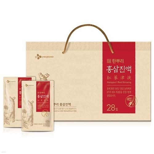 ★특가★ [18년 추석] 한뿌리 홍삼진액 28입 선물세트