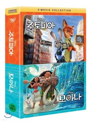 주토피아 + 모아나 2-Movie Collection (2Disc)