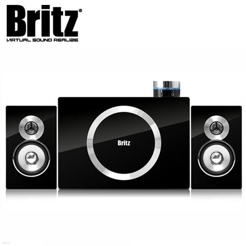 브리츠 스피커 BR-2100S5 (2.1채널 / 40W / 유선리모컨 / 헤드폰 & 마이크 단자 / 클립방식 연결 단자 / MDF재질 / 벽걸이용 홀)