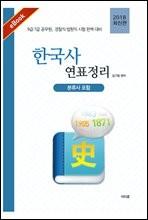한국사 연표 정리 (분류사 포함) (2018 최신판)