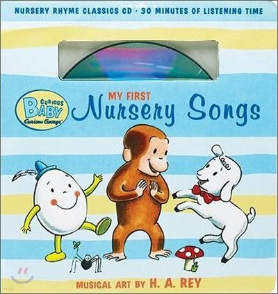 Curious Baby : My First Nursery Songs (Book & CD)