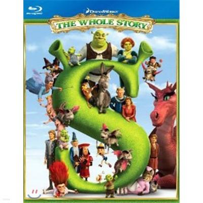 슈렉 The Whole Story (슈렉1,2,3,4 BD - 4 DISC)