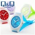 QQ시계 본사정품 VQ50J-011Y [블루] 남녀공용 핫컬러와치 아날로그시계 젤리밴드 커플시계강추