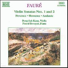 강동석 (Dong-Suk Kang), Devoyon Pascal - Faure : Violin Sonatas No.1 Op.13 (수입/8550906)