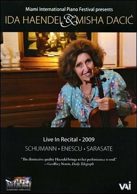 이다 헨델 & 미샤 다치치 2009 라이브 인 리사이틀 : 슈만/에네스쿠/사라사테