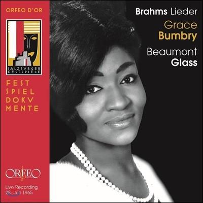 Grace Bumbry 브람스: 20개의 가곡 - 1965년 잘츠부르크 페스티벌 가곡의 밤 실황 (Brahms: Lieder - 1965 Salzburg Live)