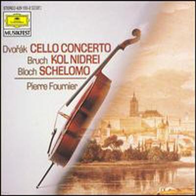 드보르작: 첼로 협주곡, 브루흐 : 콜 니드라이, 블로흐: 셀로모 (Dvorak: Cello Concerto, Bruch: Kol Nidrei, Bloch: Schelomo)(CD) - Pierre Fournier