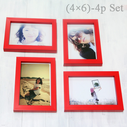 Color Photo Frame (4×6)-4p Set -액자
