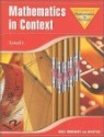 Mathematics In Context Level 1 : Student Book