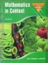 Mathematics In Context Level 3 : Student Book
