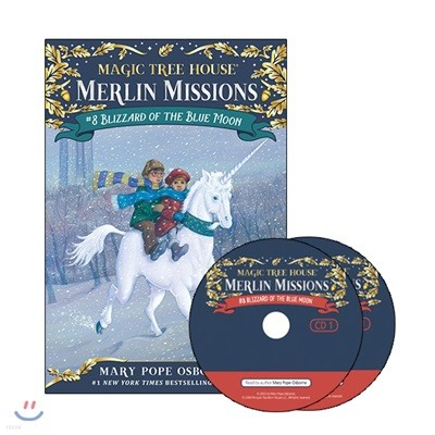 Merlin Mission #8 : Blizzard of the Blue Moon (Book + CD)