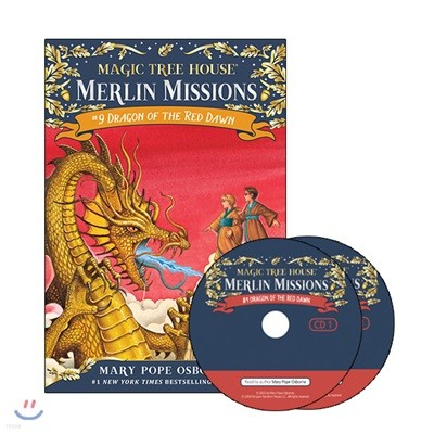 Merlin Mission #9 : Dragon of the Red Dawn (Book + CD)