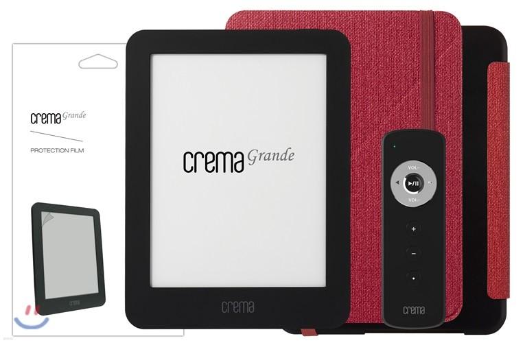 예스24 크레마 그랑데 블랙+스탠딩 케이스(레드/블랙)+액정보호필름+리모콘
