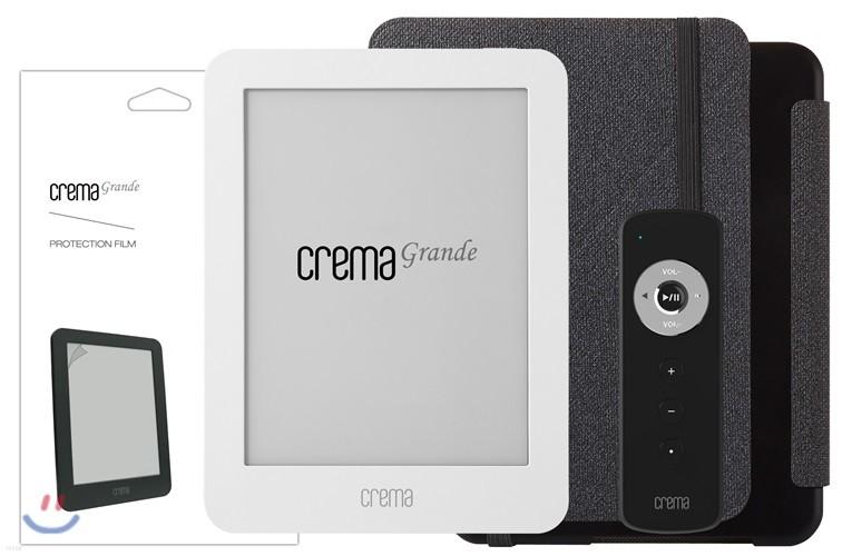 예스24 크레마 그랑데 화이트+스탠딩 케이스(그레이/블랙)+액정보호필름+리모콘