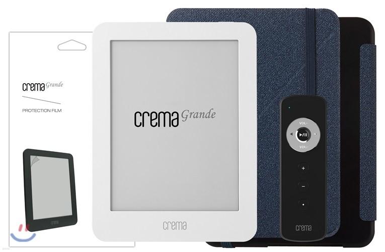 예스24 크레마 그랑데 화이트+스탠딩 케이스(블루/블랙)+액정보호필름+리모콘
