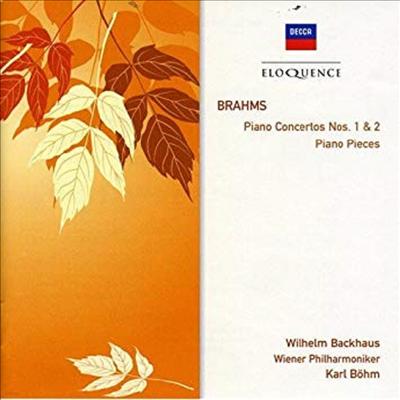 브람스: 피아노 협주곡 1, 2번, 피아노 소곡 (Brahms: Piano Concertos Nos.1 & 2, Piano Pieces) (2CD) - Wilhelm Backhaus