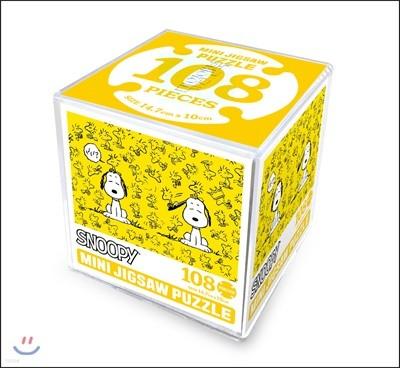 스누피 미니 직소 퍼즐 108피스 - 우드스탁과 함께