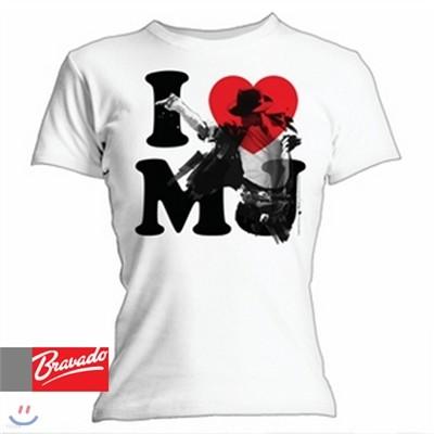 마이클잭슨 Michael Jackson - I Love MJ 31261202 여성용 티셔츠