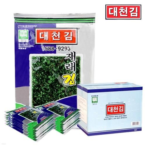 [우체국 직송/무료배송] 대천김 조미구이 재래김 25봉