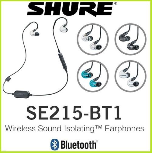 SHURE SE215-BT1 슈어 블루투스이어폰 SE-215 이어폰 국내 정품 사은품 증정