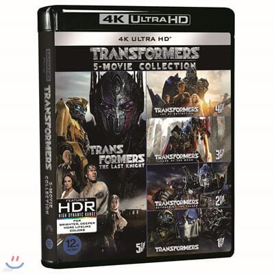 트랜스포머 5-Movie (5Disc 4K UHD 콜렉션) : 블루레이