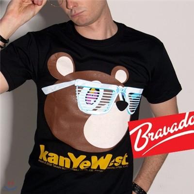 카니예 웨스트 KANYE WEST teddybear glasses 20382003 남녀공용 티셔츠