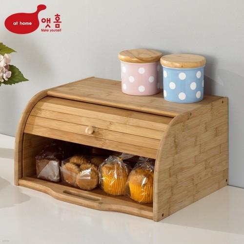 앳홈 대나무 원목 브레드 박스 빵보관함