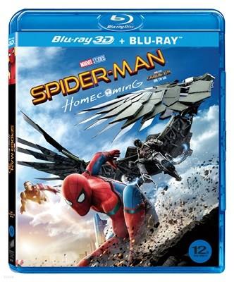 스파이더맨 홈커밍 (2Disc 3D & 2D 합본 일반판) : 블루레이