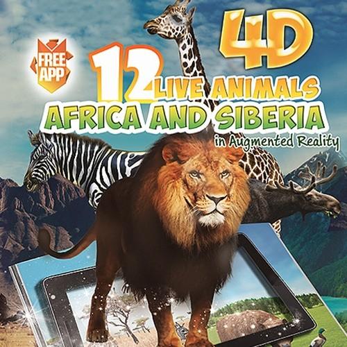 [DEVAR] 4D 아프리카와 시베리아의 동물 AR 컬러링북
