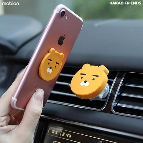 카카오프렌즈 마그네틱 차량용 송풍구 거치대/휴대폰 거치대