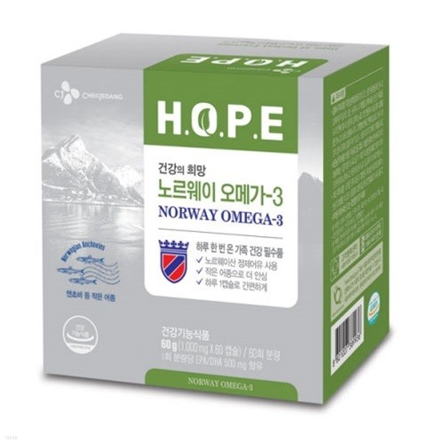 CJ HOPE 노르웨이 오메가3 x1개 (2개월분)