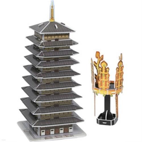 종이입체퍼즐 선덕여왕의 신라금관과 황룡사구층목탑