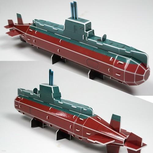 종이입체퍼즐 크래커 5000잠수함