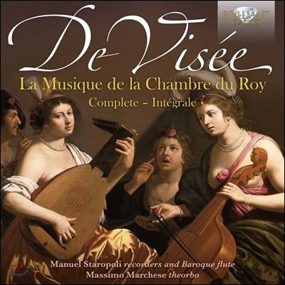 Manuel Staropoli / Massimo Marchese 로베르 드 비제: 왕의 실내악 작품 전곡집 (Robert De Visee: Musique de La Chambre du Roy)