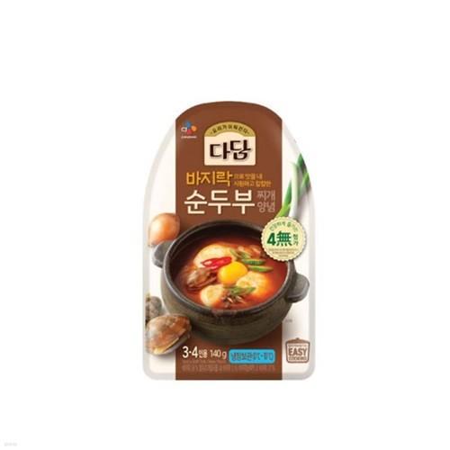 [냉장] CJ 다담 바지락순두부찌개양념 140g