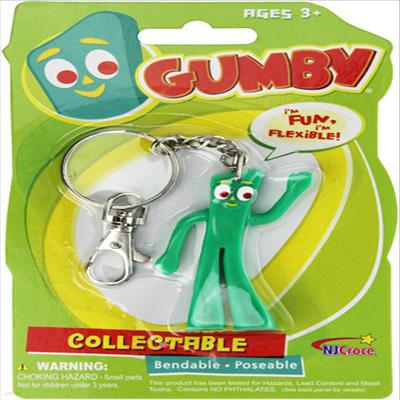 Nj Croce - (엔제이크로체)Gumby 3 Bendable Keychain (검비)