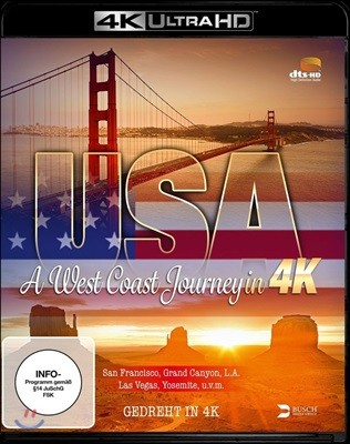 USA : A West Coast Juorney In 4K (미국 웨스트 코스트 여행) [4K Blu-Ray]