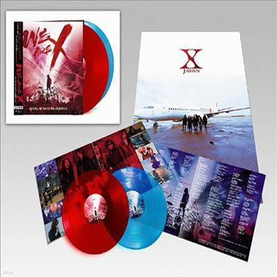 X-Japan (엑스 재팬) - We Are X (위 아 엑스) (Bonus Track)(Soundtrack)(Ltd. Ed)(Red & Blue Vinyl)(2LP)(일본반)