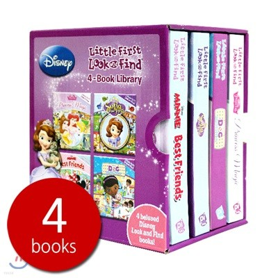 Disney Little First Look and Find 4-Book Library