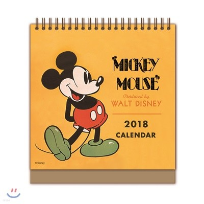 미키 마우스 탁상달력 2018 : 한정판 캘린더