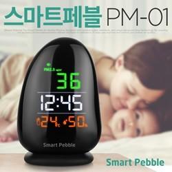 스마트페블 초미세먼지 측정기 PM-01 온도계 습도계 PM2.5 공기환경측정
