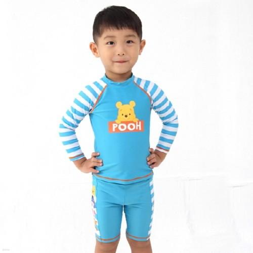 PH-6201 디즈니푸우수영복 남아수영복 전신수영복 아동수영복 유아수영복 UV차단 베이비수영복