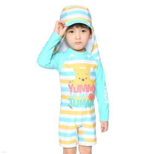 PH-7202 푸우유아수영복 베이비수영복 남아수영복 UV차단 아동수영복 유아수영복 전신수영복