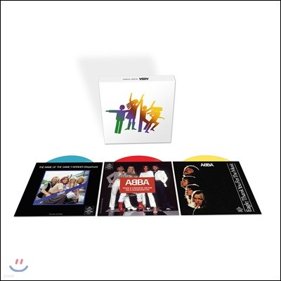 Abba - The Singles Coloured Vinyl Box 아바 7인치 싱글 박스 모음집 [블루, 레드, 옐로우 컬러 3 LP]