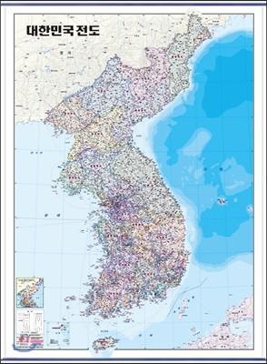 대한민국전도-행정 (코팅 표구-걸이용)